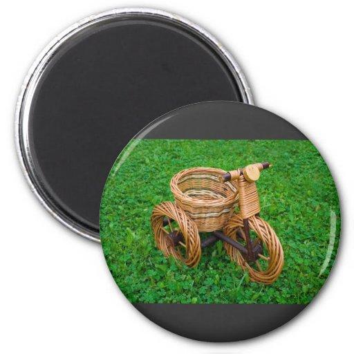Wicker Basket Furniture In A Bike Shape On The Gra Magnets