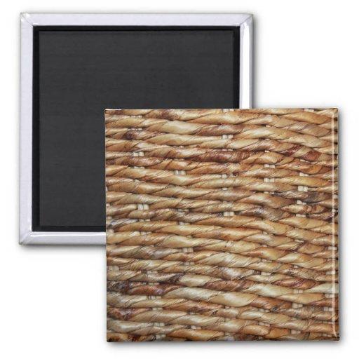 Wicker Basket Fridge Magnets