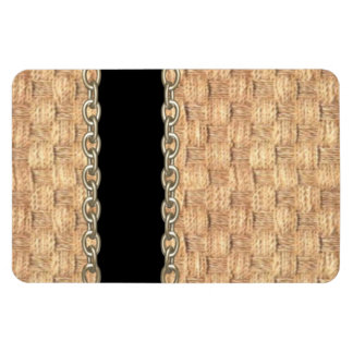 Wicker Chain pattern by Valxart.com Rectangular Photo Magnet
