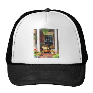 Wicker Chair With Striped Pillow Cap