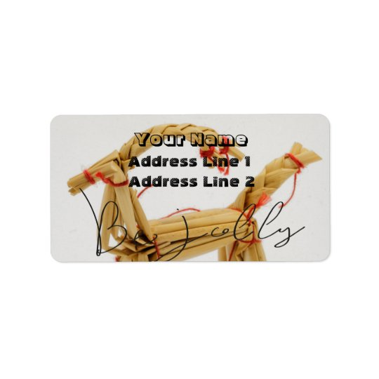 Wicker Christmas Ornament Address Label