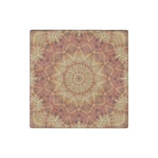 Wicker Mandala Pattern Stone Magnet
