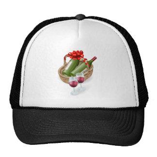 Wicker wine basket hats