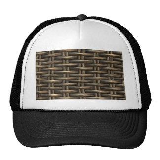 wicker work pattern cap