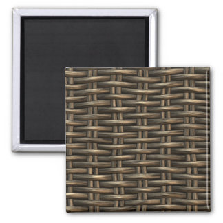 wicker work pattern square magnet