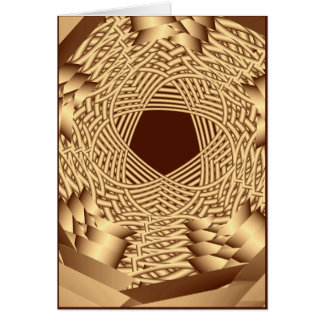 wicker woven pentacle greeting card