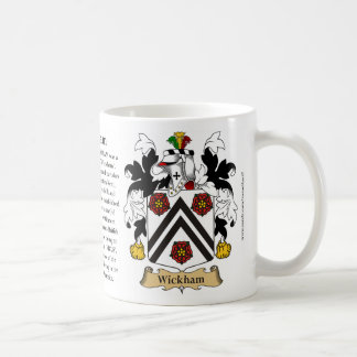 Wickham, the Origin, the Meaning and the Crest Basic White Mug