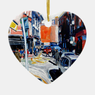 wicklow street dublin ceramic heart decoration