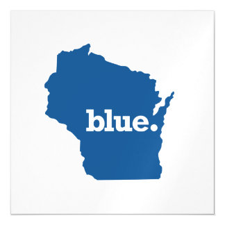 WICONSIN BLUE STATE MAGNETIC INVITATIONS