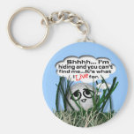 Widdle Ball in the Rough Key Chain