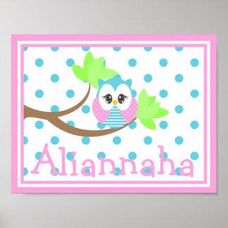 Widdle Owl Custom Name Print 3