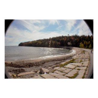 Wide Angle Maine View Poster