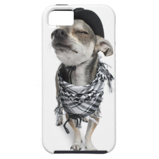 Wide-angle of a Chihuahua with his eyes closed Tough iPhone 5 Case