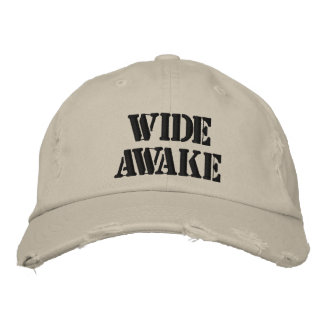 Wide Awake Hat Embroidered Hat