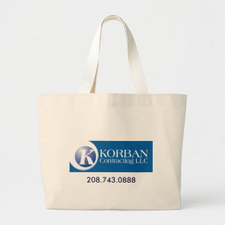 WIDE BLUE logo3, 208.743.0888 Canvas Bag
