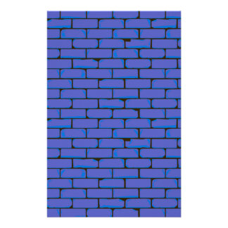 Wide Blue Wall Background Stationery