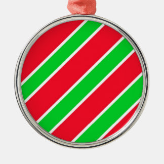 Wide Christmas Stripes Ornaments
