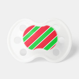 Wide Christmas Stripes Pacifier