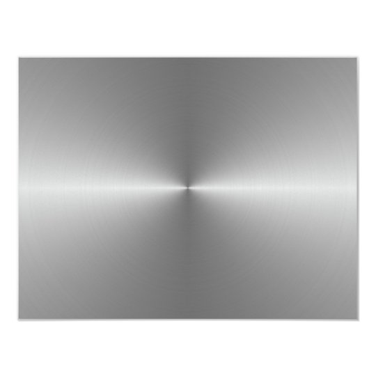 wide circular steel 11 cm x 14 cm invitation card