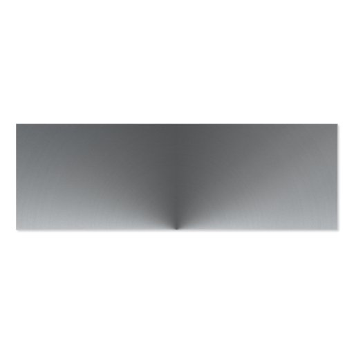 wide circular steel business card
