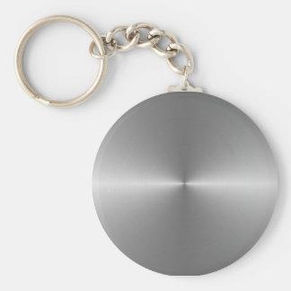 wide circular steel key chains