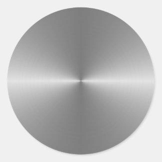wide circular steel round sticker