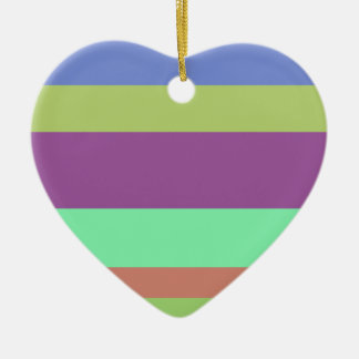 Wide Color Stripes Christmas Ornaments