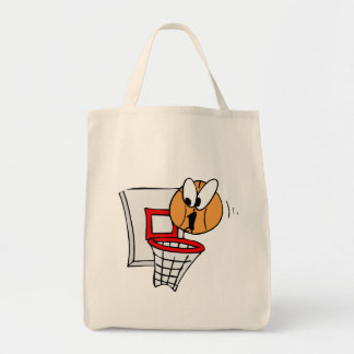 Wide eyed basketball tote bag