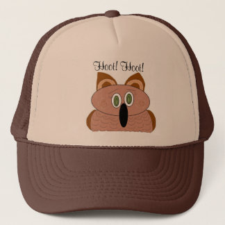 Wide Eyed Owl Trucker Hat
