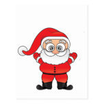 Wide Eyed Santa Postcard