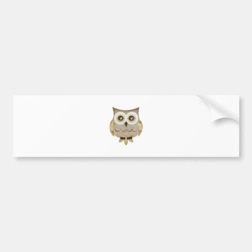 Wide Eyes Owl Bumper Stickers