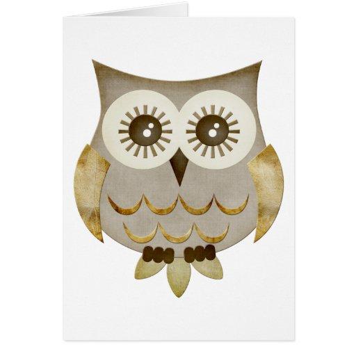 Wide Eyes Owl Card