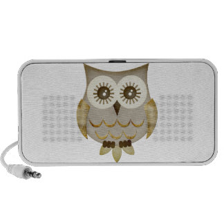 Wide Eyes Owl Doodle Portable Speakers