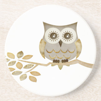 Wide Eyes Owl in Tree Coaster