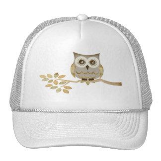 Wide Eyes Owl in Tree Hat