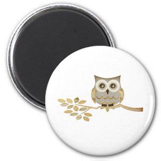 Wide Eyes Owl in Tree Magnet