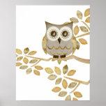 Wide Eyes Owl in Tree Poster