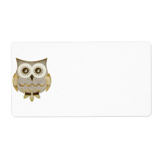 Wide Eyes Owl Label Shipping Label