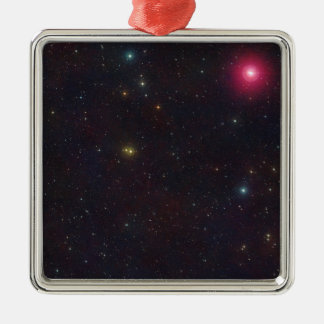 Wide Field View Constellation Cetus Stars Silver-Colored Square Decoration