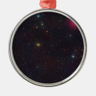 Wide Field View Constellation Cetus Stars Silver-Colored Round Decoration
