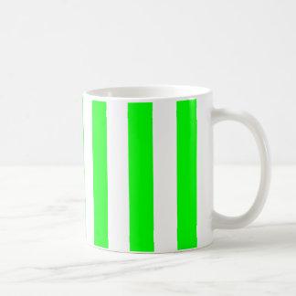 Wide Lime Stripes Coffee Mug