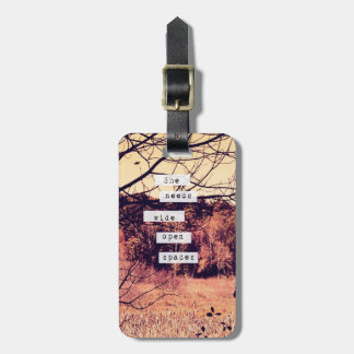 Wide Open Spaces II Luggage Tag
