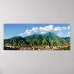 wide panoramic view of El Avila National Park -2:1 Poster
