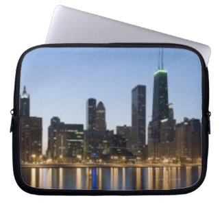 Wide panoramic view of the Chicago lakefront at Laptop Sleeve