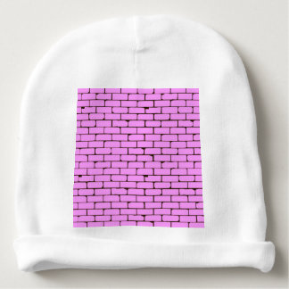 Wide Pink Wall Background Baby Beanie