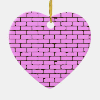 Wide Pink Wall Background Ceramic Heart Decoration