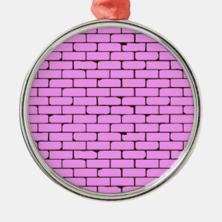 Wide Pink Wall Background Silver-Colored Round Decoration
