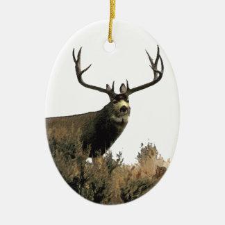Wide rack buck christmas tree ornaments