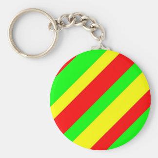 Wide Rasta Stripes Keychains