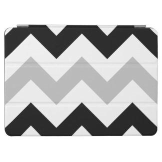 Wide Retro Zigzag Pattern Black Grey White iPad Air Cover